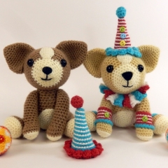 Diggory and Dave the Dancing Dogs amigurumi by Janine Holmes at Moji-Moji Design