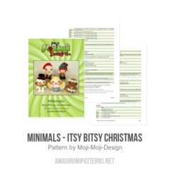 Minimals - Itsy Bitsy Christmas amigurumi pattern by Janine Holmes at Moji-Moji Design