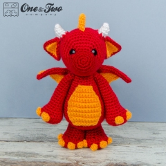 Felix the Baby Dragon amigurumi pattern by One and Two Company