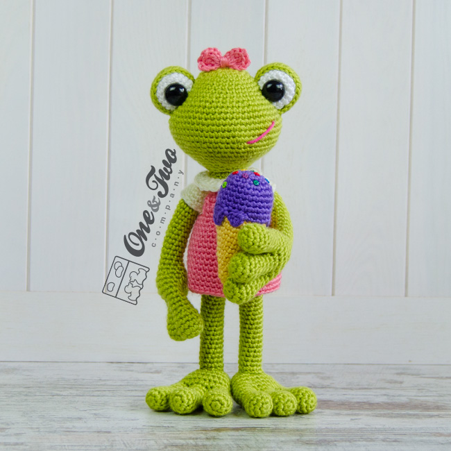 Amigurumi Frog Patterns : Kelly the Frog amigurumi pattern - Amigurumipatterns.net