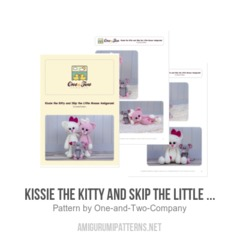 Kissie the Kitty and Skip the Little Mouse  amigurumi pattern by One and Two Company
