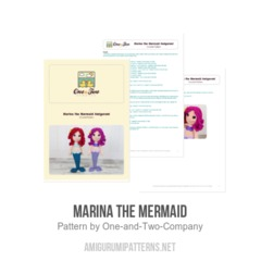 Marina the Mermaid amigurumi pattern by One and Two Company