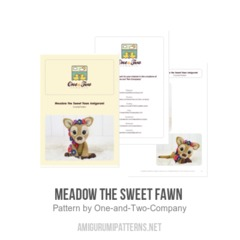 Meadow the Sweet Fawn  amigurumi pattern by One and Two Company