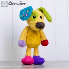 Scrappy the Happy Puppy amigurumi by One and Two Company