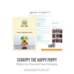 Scrappy the Happy Puppy amigurumi pattern by One and Two Company