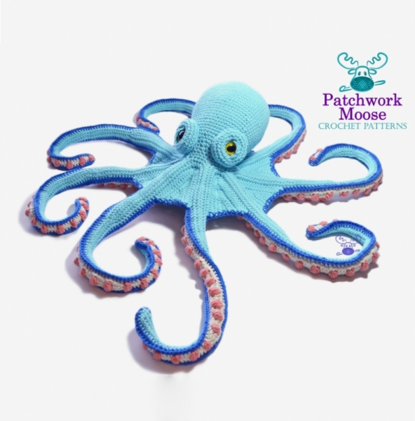Octopus Couple Amigurumi Crochet Pattern – Snacksies Handicraft | 600x592