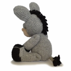 Dylan the Donkey amigurumi by Patchwork Moose (Kate E Hancock)