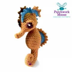 Josie the Seahorse amigurumi by Patchwork Moose (Kate E Hancock)