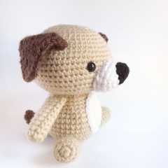 Snuggle Puppy Dog amigurumi pattern by AmiAmore