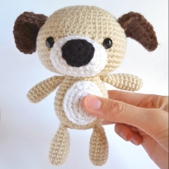 Snuggle Puppy Dog amigurumi by AmiAmore