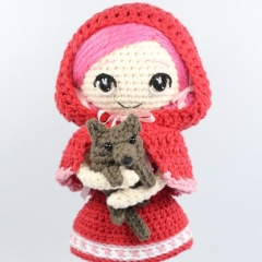 Little Red Riding Hood and Wolf Cub amigurumi pattern by Epic Kawaii