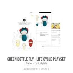GREEN BOTTLE FLY - Life Cycle Playset amigurumi pattern by Lalylala