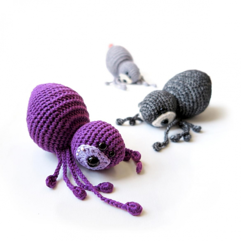 Crochet Amigurumi Spider : music box toy - spider AGATHA amigurumi pattern ...