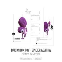 music box toy - spider AGATHA amigurumi pattern by Lalylala