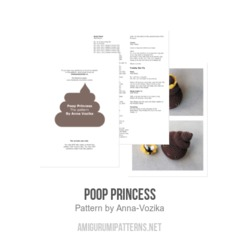 Poop Princess amigurumi pattern by Anna Vozika