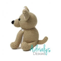 Charlie the Chihuahua amigurumi pattern by Adrialys Designs