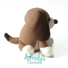 Donovan the Dog amigurumi pattern by Adrialys Designs