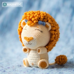 Lion Cubs Bobby and Lily amigurumi by AradiyaToys