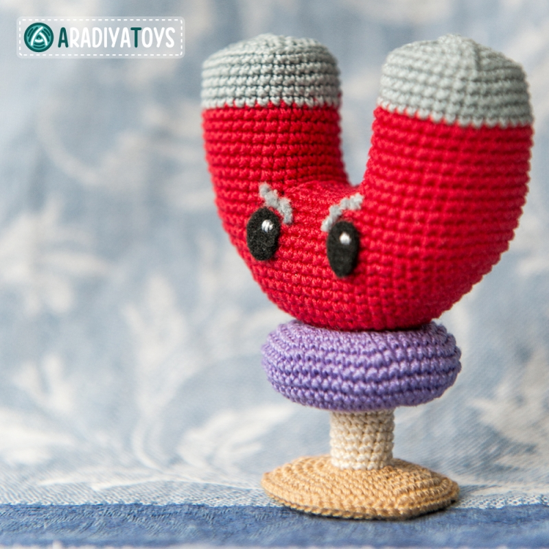 Magnet-Shroom (plants vs. zombies) amigurumi pattern ...