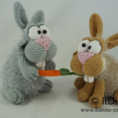 Bunny and Clyde amigurumi pattern by IlDikko