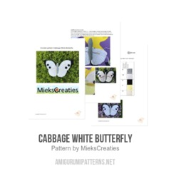Cabbage White Butterfly amigurumi pattern by MieksCreaties