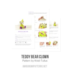 Teddy Bear Clown amigurumi pattern by Kristi Tullus