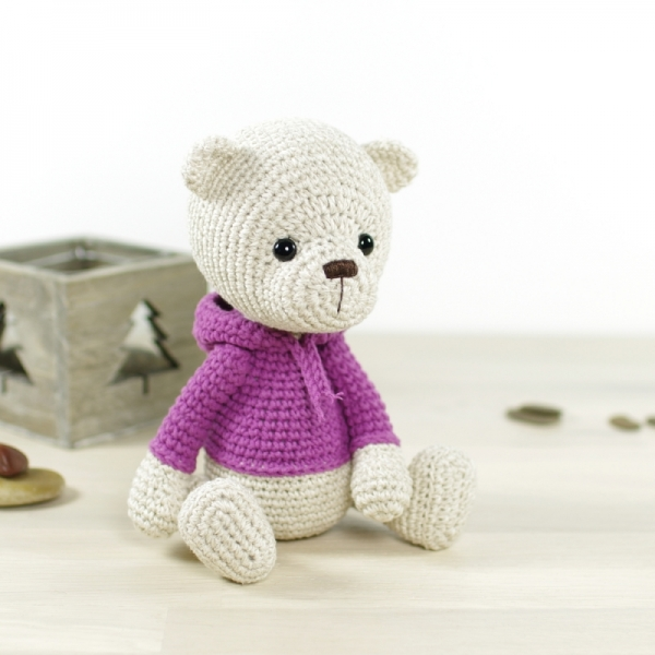 Teddy bear in a hoodie amigurumi pattern ...