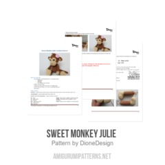 Sweet Monkey Julie  amigurumi pattern by DioneDesign