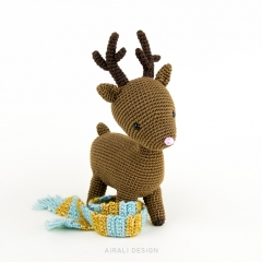Noel the Reindeer amigurumi pattern by airali design