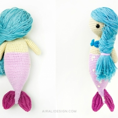 Sandra the mermaid amigurumi pattern by airali design