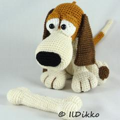 Butch the Basset amigurumi pattern by IlDikko
