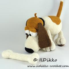 Butch the Basset amigurumi by IlDikko