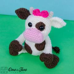 Doris the Cow amigurumi by One and Two Company
