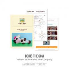Doris the Cow amigurumi pattern by One and Two Company