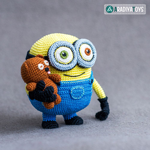 Amigurumi Pattern Minion : Minion Bob and Bear Tim amigurumi pattern ...