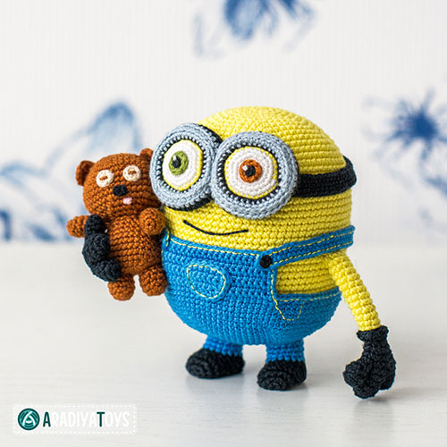 Amigurumi Free Patterns Minions : Minion Bob and Bear Tim amigurumi pattern ...