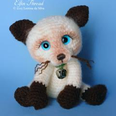 Othello the siamese kitten amigurumi by Elfin Thread