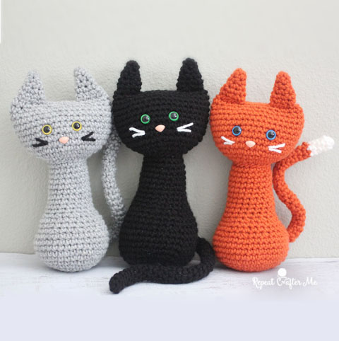PURRfect kitty cat - Free amigurumi pattern