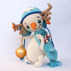 Snowman Lu amigurumi pattern by Ds_mouse