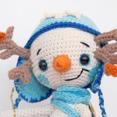 Snowman Lu amigurumi by Ds_mouse