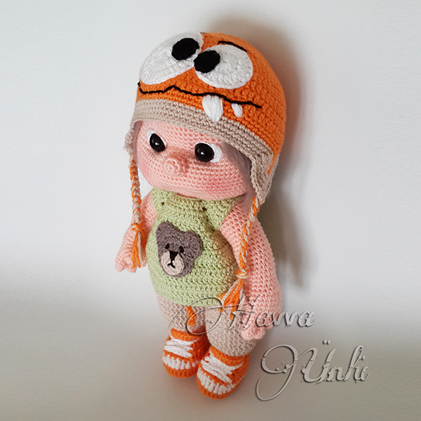 Amigurumi Hat Patterns : Tommy with monster hat and clothes amigurumi pattern ...