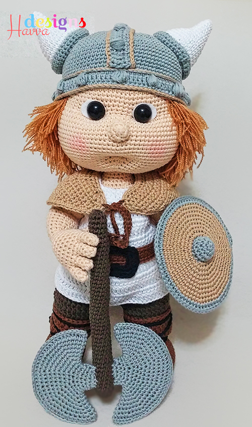 Buy Tommy with viking costume amigurumi pattern ...