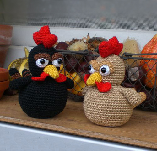 Amigurumi Chicken Pattern : Little brown chicken - Free amigurumi pattern