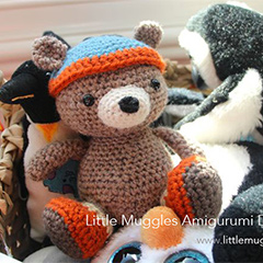 Bernie Bear amigurumi pattern by Little Muggles