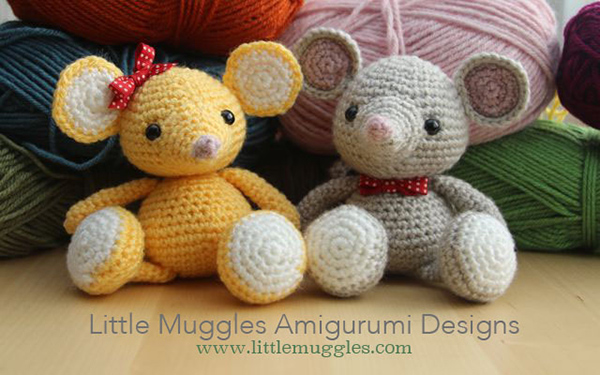Free Amigurumi Pattern Little Girl Kate : Buttons the mouse - Free amigurumi pattern