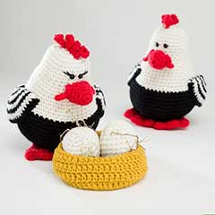 Chicken Family amigurumi pattern by Woolytoons