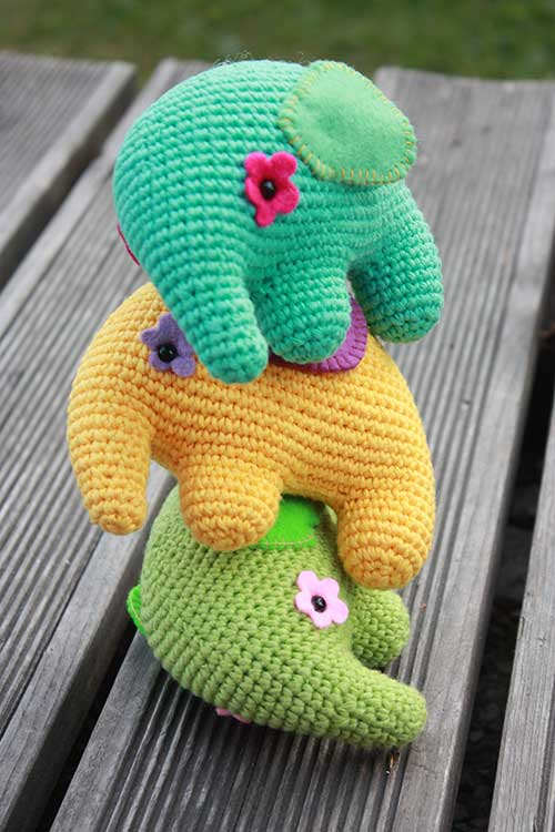 Colorful Elephant amigurumi pattern - Amigurumipatterns.net