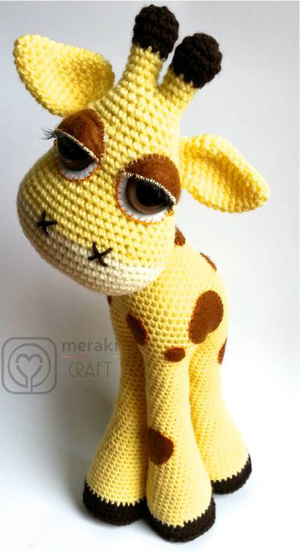 Crochet Patterns For Giraffe : Flick the Giraffe amigurumi pattern - Amigurumipatterns.net