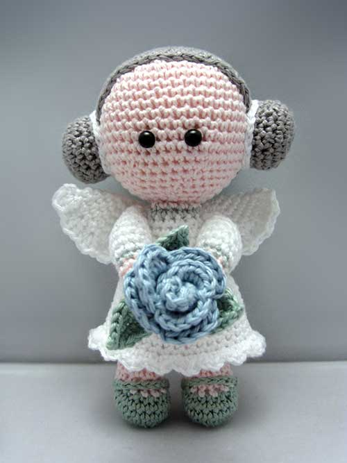 Angel Amigurumi Tutorial : Flower Angel amigurumi pattern - Amigurumipatterns.net