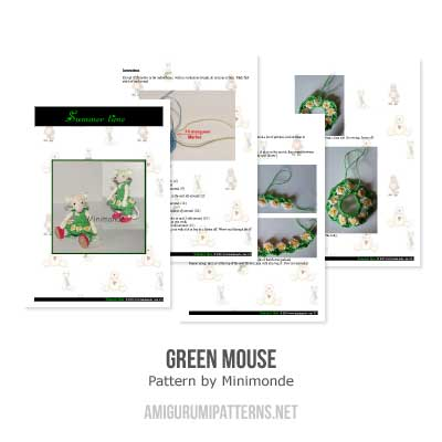 Green Mouse amigurumi by Minimonde
